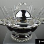 Amazing Caviar & Vodka Set  6 Glass sturgeon decoration