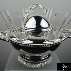 Amazing Caviar & Vodka Set  6 Glass sturgeon decoration